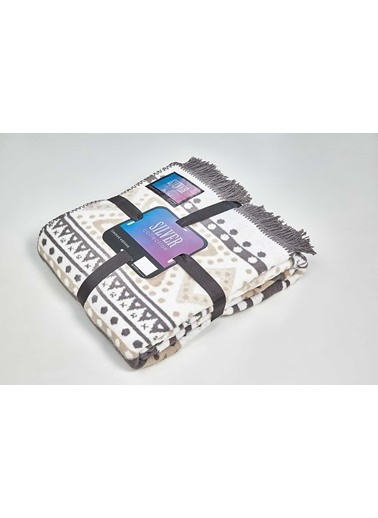 Aksu Silver Collection Çift Kişilik Pamuklu Battaniye Zach Renkli